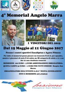 locandina memorial Angelo Marra