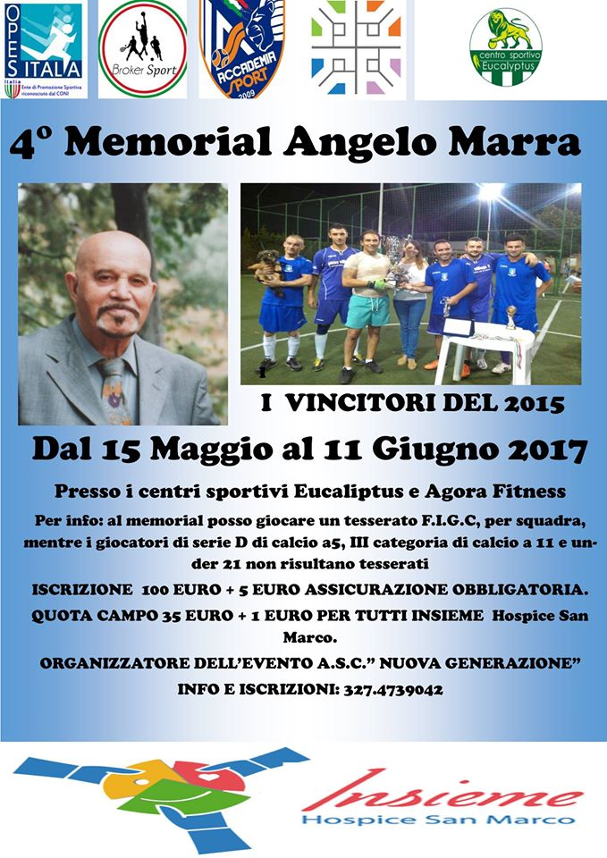 locandina memorial Angelo Marra