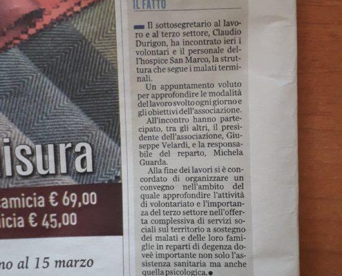 articolo su Latina Oggi del  4 marzo 2019